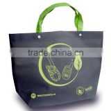 PP non-woven lamination bag with button connecting on handle part