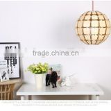 Hot sale wood art decor pendant pine cone lamp wood chandelier light JK-8005B-31 LED pendant light