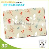 2015 waterproof Plastic PVC/PP/PET custom printed laminated placemats                                                                         Quality Choice