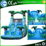 Best selling large inflatable water slide children inflatable pool with slide