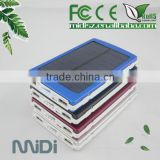 For mobile phone and tablet power charging 12000mAh solar power bank                                                                         Quality Choice
