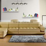 living room furniture / beautiful comfortable sectional leisure leather sofa L16