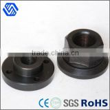 Hex head flange nut black anodised aluminum weld nut