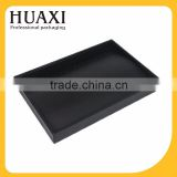 High quality Black lacquered wooden tray jewelry display tray