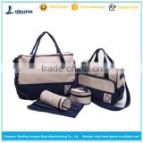 Large capacity cute diaper bags with changing pad 5 pieces set best                                                                         Quality Choice