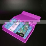 2016 Luxury pink empty cosmetic gift set paper packaging box