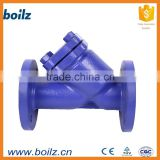 iron swing type rubber flap check valve with flange end