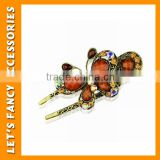 PGHD0466 Metal hairpins butterfly kanzashi crystal hairpins