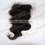 High quality 12'' 1B# body wave 100% Brazilian hair viegin hair bundles with lace closure in stock