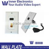 HDMI 1-Port Wall Plate(Pigtail Extension Coupler Cable) and Banana Binding Post Decora Style Wall Plate