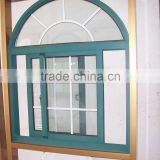 Arched nice aluminum windows double ocean view casement window with clear glass