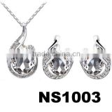 fashion austria crystal diamond jewelry sets sale