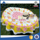 large size diameter 180cm fruit printing promotional watermelon round beach towel