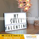 Cinematic Lightbox Cinema Personalised Light Up Box Board Banner Marquee Vintage Cinema Light Box