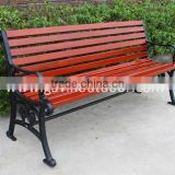 Cast iron and wood garden bench outdoor