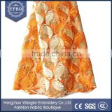 2016 orange french lace tulle fabric type high quality multi color embroidered fabric bead wholesale african baby lace fabric                                                                                                         Supplier's Choice