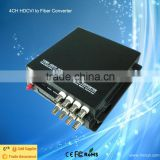 4Ch 720P/960P HD CVI/AHD/TVI Converter Fiber Optic to BNC Digital Video Converter