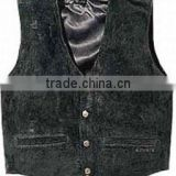 MOTORCYCLE LEATHER WAISTCOAT , buffalo leather vest winter leather vest men leather biker vest