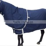 factory directly sale 600D pu coated waterproof breathable 3000/3000 ripstop winter horse rug from China supllier