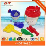 7PCS ABS material beach toy set bucket for kids