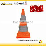 TC107 60cm LED Reflective inflatable used traffic cones