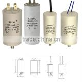 white plastic & aluminum shell LEFENG brand cbb60 cbb65 cbb61 cd60 series ac motor capacitor for air compressor