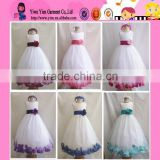 2015 fashion high quality flower kids party dress original selling elegant baby girl wedding dress