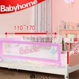 CE steel plastic collapsible safety baby bed rail