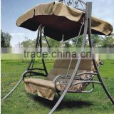 Christmas promotional rattan outdoor swing chair garden hanging chair with canopy patio hammock