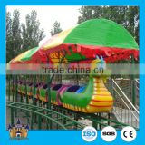 Kids large amusement rides mini roller coaster , sliding dragon / green worm mini roller coaster rides hot sale