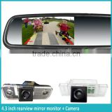 car thermometer and compass auto dimming rearview mirror with wireless rear view car camera for auto parts