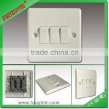 3 gang 2 way switch whiter color bakelite plate wall switch