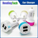 2.1A/1A aluminium alloy dual usb car charger for Apple Iphone/Ipad and Android phone/Tablet