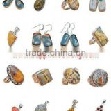 Ocean Jasper Jewelry Imitation Discount Jewellery Sterling Silver Gemstone Rings Wholesale Earrings