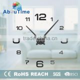 3d big size home decor quartz diy wall clock living room metal Acrylic mirror oversize wall clocks