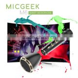 2016 mini bluetooth speaker Micgeek M6 mini portable karaoke player, bluetooth microphone for android