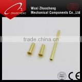 yellow zinc steel hollow rivet with interal thread for all size