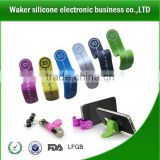 Creative design for multipurpose magnet clip band silicone magnet clip silicone earphone winder silicon magnet M-clip