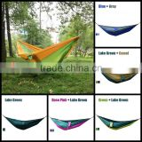 Single Travel Camping Outdoor Portable Parachute Nylon Fabric Hammock