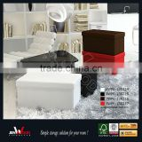 Brown PU Leather Storage Ottoman, Storage Box