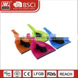 Household mni table dust cleaning easy plastic dust cleaning sets soft grip dustpan and brush set