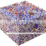 Zari Embroidery Jewellery Box