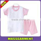 Wholesale Custom Baby Kids Summer Clothing Set Character Small Children Suits Baby Garment