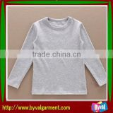 Breathable Fabric Kids Cotton Blank T shirt,Plain Tshirt for Kids Made in China
