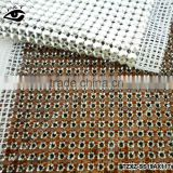Rhinestone Mesh Crystal Trimming sew on crystal mesh SS19 smoked topaz color for clothing