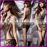 Big yards temptation lingerie suit is transparent reality exposed breast open files uniform pajamas women extreme temptation