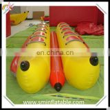 Commercial water game pvc inflatable banana boat, inflatable flying fish, inflatable tube towable for sale