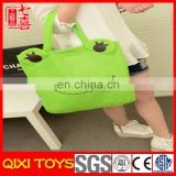 Foldable Plush Frog Shopping Tote Bag