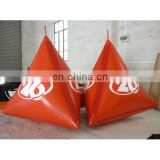 2014 new water buoy Triangular pyramid inflatable buoys for water lake or marine event promotion