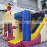 commercial inflatables,inflatable bouncer with slide,cheap inflatables CC084